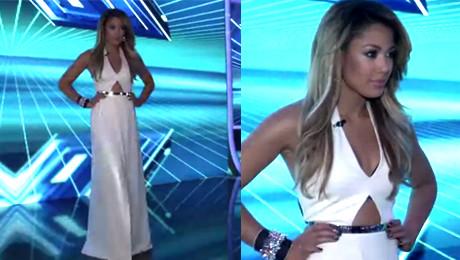 Kazadi w białej sukni w finale X Factor