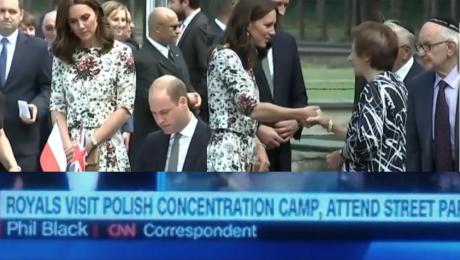 WPADKA W CNN Relacjonowali wizytę Kate i Williama w polskich obozach koncentracyjnych