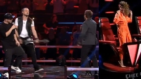 Baron Tomson i Piasek na scenie The Voice of Poland