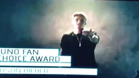 Justin WYGWIZDANY na rozdaniu nagród Juno