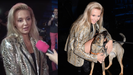 Kasia Moś promuje program ze swoim psem Adoptowałam go dzięki Joannie Krupie