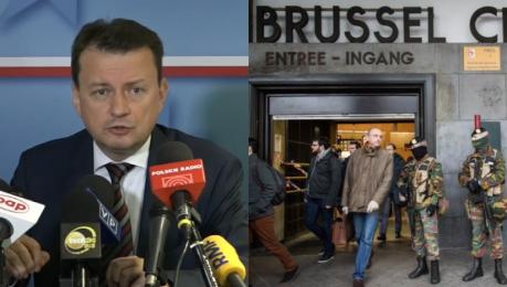 Błaszczak o uchodźcach Warszawa może wyglądać jak Bruksela z żołnierzami na ulicach Nie narażę na to Polaków