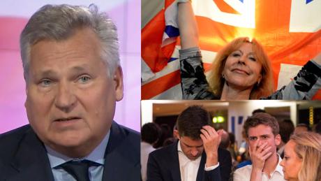 Kwaśniewski o Brexicie Od dzisiaj mamy gorszą Europę