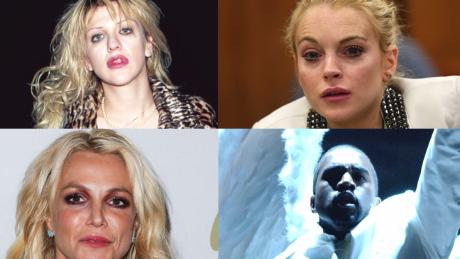 Tym gwiazdom show biznes nie wyszedł na dobre Britney Spears Lindsay Lohan i Kanye West