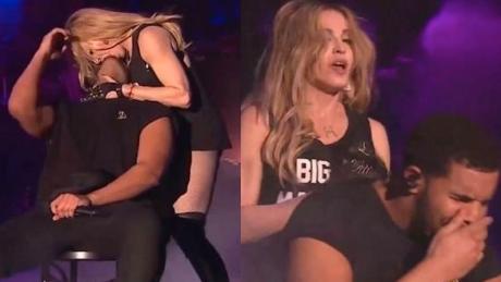 Madonna CAŁUJE Drake a na scenie Był zniesmaczony