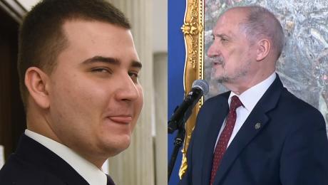 Macierewicz o Misiewiczu Jest pracownikiem ministerstwa WYKORZYSTUJE URLOP