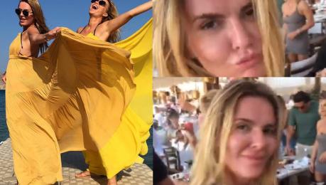 Przetakiewicz Lis i Jemioł tańczą na greckiej wyspie
