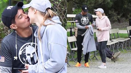 Zakochana Pisarek na randce w parku