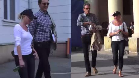 Młynarska na spacerze z mężem