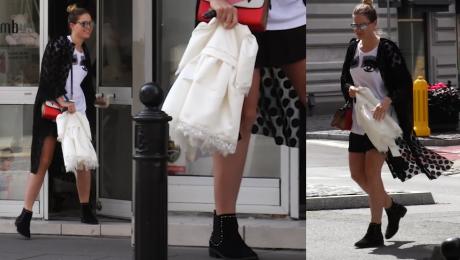 Ślotała kupuje sukienkę dla córeczki Ładna