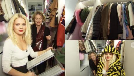 Margaret pokazuje garderobę w TVN ie Poszłam w wysokość Wchodzę tam na drabinie