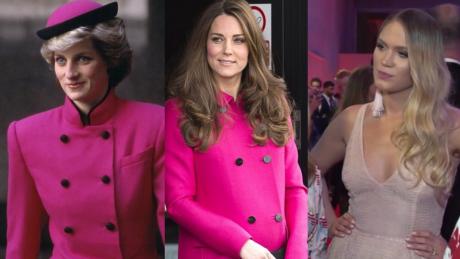 Ślotała o Kate Middleton Jej stroje są podobne do tych które nosiła Diana