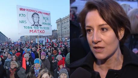 Ostaszewska o protestach Polek Manifestujemy naszą godność Nie zgodzimy się żeby była deptana