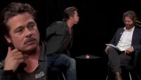 Brad Pitt OPLUŁ Zaca Galifianakisa