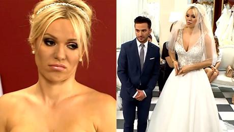 Doda szuka sukni na ślub Jakby tu był rozporek żeby wyszła noga w diamentowym bucie