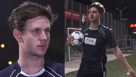 Królikowski trenuje do wielkiego meczu między TVP a TVN