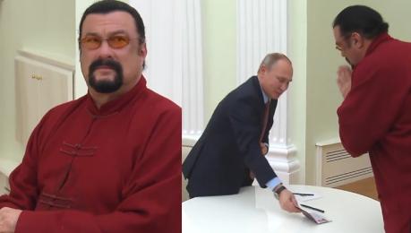 Steven Seagal został oficjalnie obywatelem Rosji WIDEO