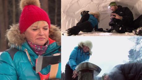 Katarzyna Figura buduje iglo w Dzień Dobry TVN