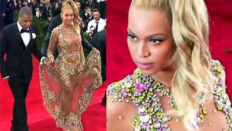 Półnaga Beyonce na Gali Met