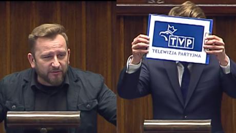 Tymczasem w Sejmie Kim jest Kurski Proponuję żeby zmienił logo TVP na Telewizja Partyjna