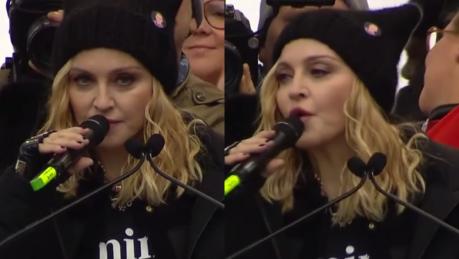 Madonna na Marszu Kobiet Trump starał się stworzyć nam fałszywe poczucie bezpieczeństwa Pokonamy te mroczne czasy