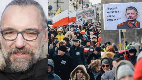 Tak wyglądał protest KOD u przeciw zmianom w stolicy Tu WOLNA jest Warszawa