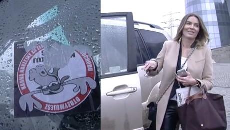 Hania dostała karnego jelenia za złe parkowanie