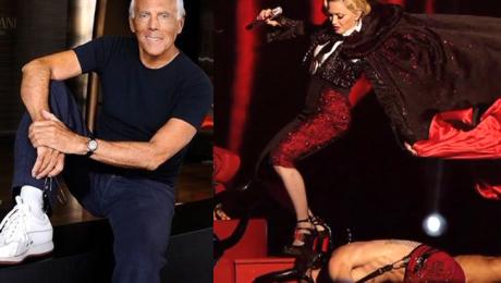 Armani odpiera zarzuty Madonny Jest bardzo trudną osobą Nie mam odwagi powiedzieć tego co bym chciał