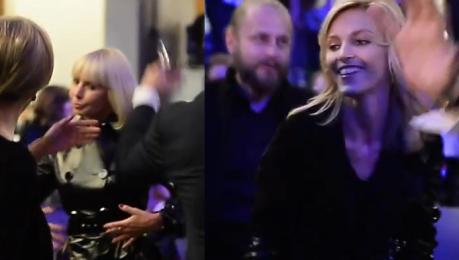 Anja Rubik tańczy z Grażyną Kulczyk