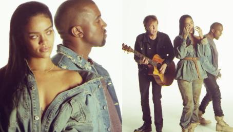 Kulisy teledysku Rihanny z McCartneyem i Kanye Westem