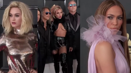 Lady Gaga Katy Perry i Jennifer Lopez na gali Grammy