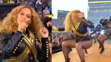 Beyonce POTKNĘŁA SIĘ i prawie upadła na scenie Super Bowl 2016