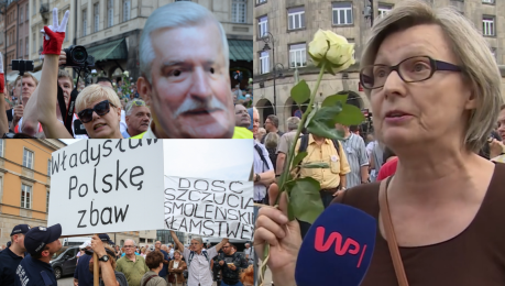 Kontrmanifestacja smoleńska Dlaczego Polacy protestują My nie mamy rządu mamy SZAJKĘ RZĄDZĄCYCH