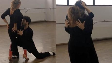 Ewa Kasprzyk ćwiczy tango