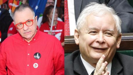 Owsiak składa życzenia Kaczyńskiemu Życzę panu panie prezesie żeby żadna odleżyna nie powstała