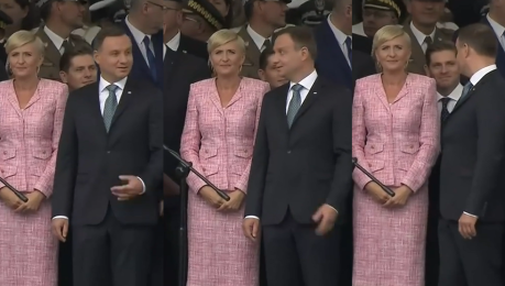 Zafascynowany defiladą Duda podczas obchodów święta Wojska Polskiego