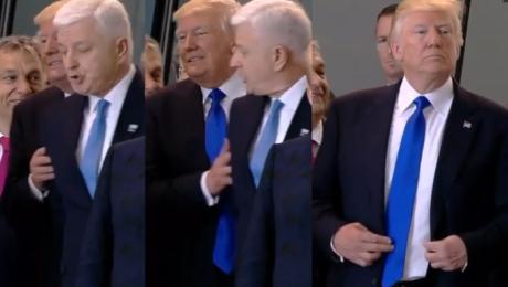 WPADKA Trumpa na szczycie NATO PRZEPCHNĄŁ premiera Czarnogóry America first