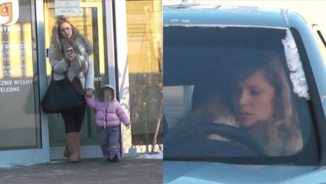Liszowska z córką na zakupach