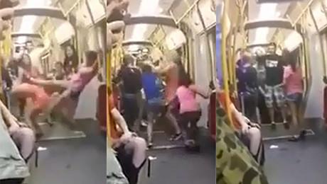 HIT SIECI Nastolatki biją się w warszawskim tramwaju