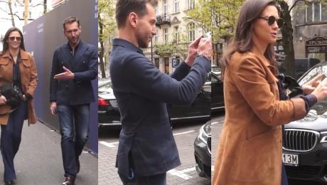 Rusin i Kraśko pod TVN em pozują do zdjęć z fanami