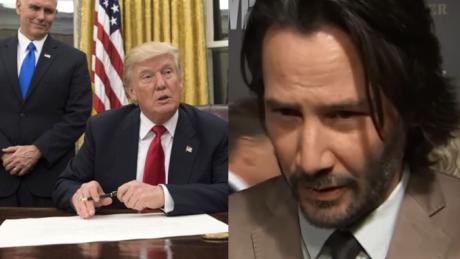 Keanu Reeves o pierwszych decyzjach Trumpa To jest po prostu okropne Pomyślmy i zareagujmy