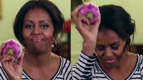 Michelle Obama tańczy z warzywem O CO CHODZI
