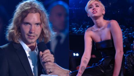 Bezdomny odebrał nagrodę Miley Cyrus