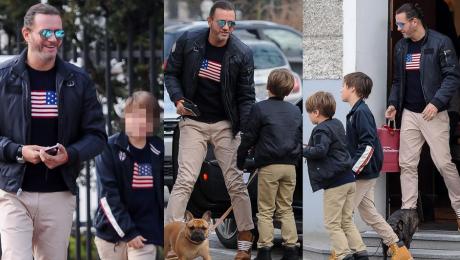 Majdan zacieśnia więzi z synami Małgosi Założyli identyczne koszulki…