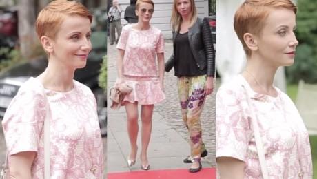 Różowa Zielińska na pokazie Bizuu