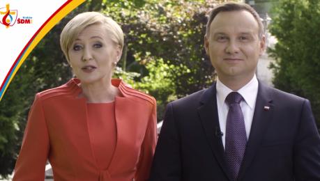 Andrzej i Agata Duda zapraszają na Światowe Dni Młodzieży po polsku angielsku i niemiecku