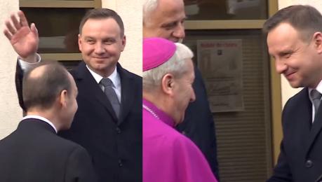 Andrzej Duda na intronizacji Jezusa na króla Polski